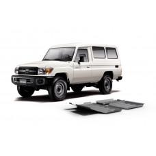 Алюминиевая защита рулевых тяг 6 мм для Toyota Land Cruiser 76, V - 4.2 2007+ Rival