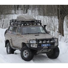 Багажник экспедиционный алюминиевый KDT для Nissan Patrol (8 опор)