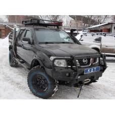 Алюминиевый передний силовой бампер KDT для Nissan Navara D40 и Pathfinder R51