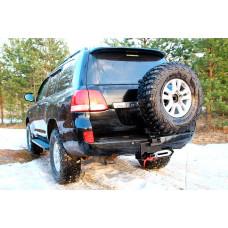 Калитка запасного колеса и площадка под лебедку в штатный бампер Toyota Land Cruiser 200