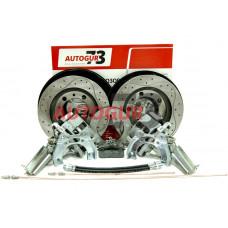 Дисковые тормоза с перфорированными дисками УАЗ задний мост Спайсер Патриот с 2013 г. (суп. ВАЗ-2112 под ручник)