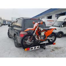 Мотохвост - устройство для перевозки мотоцикла в квадрат под фаркоп