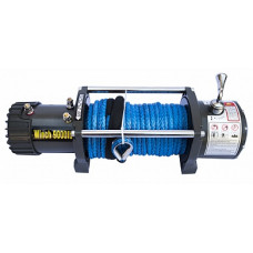 Автомобильная электрическая лебедка CM Winch CM9000S 12V 4090 кг. с синтетическим тросом