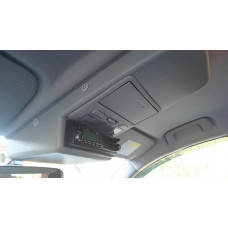 Консоль потолочная для установки р/c Mitsubishi L200/Pajero Sport вырез под р/c 140х40 мм, серая